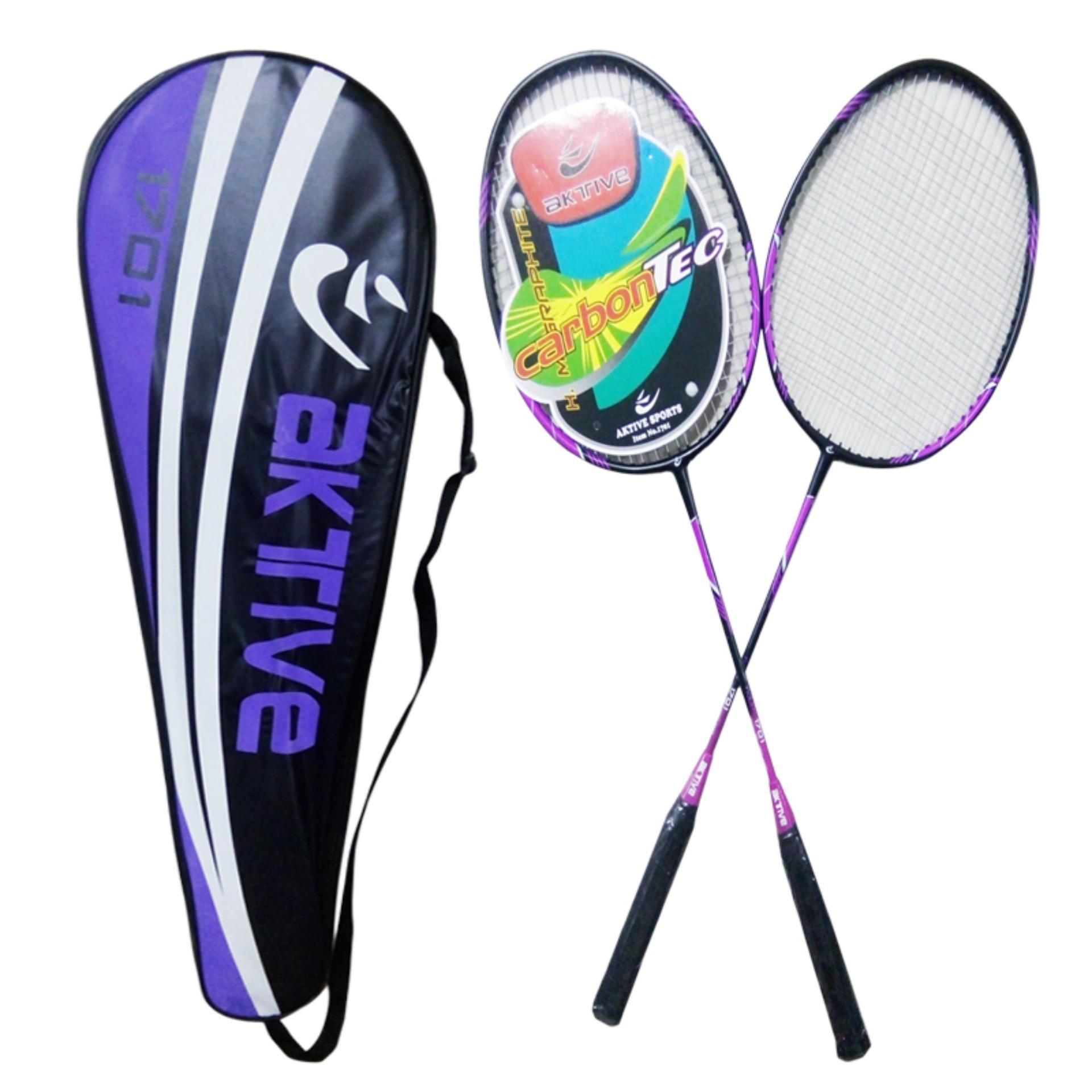Aktive Badminton Racket 1701 Set of 2 (purple)