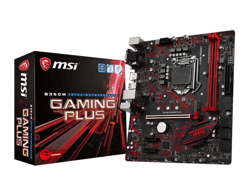 MSI B360M Gaming plus Motherboard M-ATX