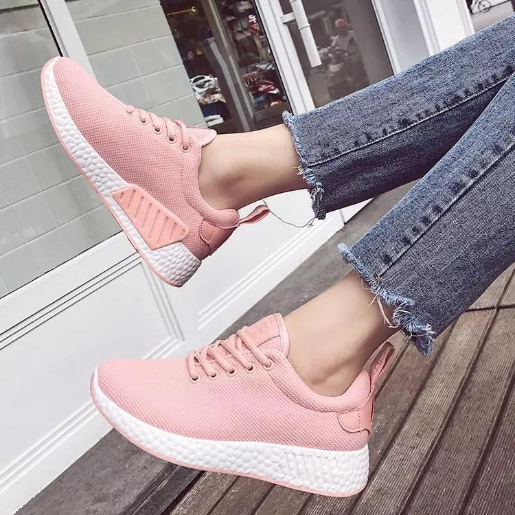 7d7a8b623cc7 QQS 2018 trend wild female Korean version of thick-soled running shoes  casual wild female
