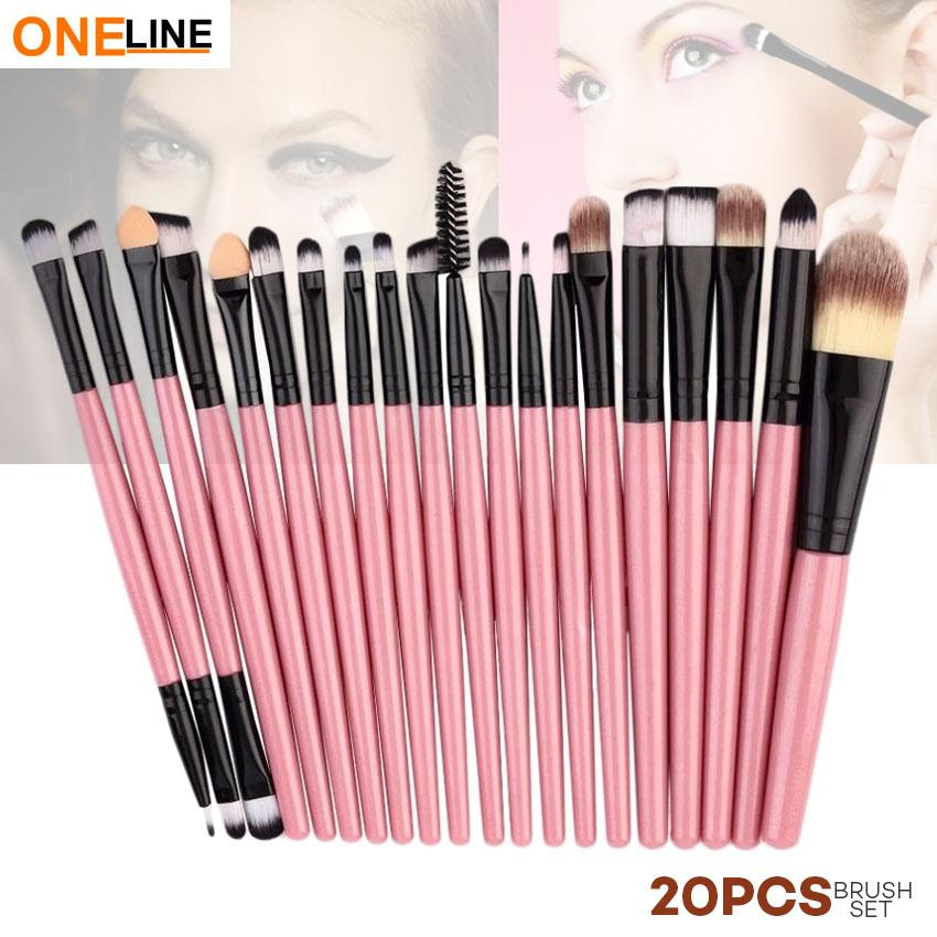 Oneline 20Pcs Makeup Brushes Set (Pink) Philippines