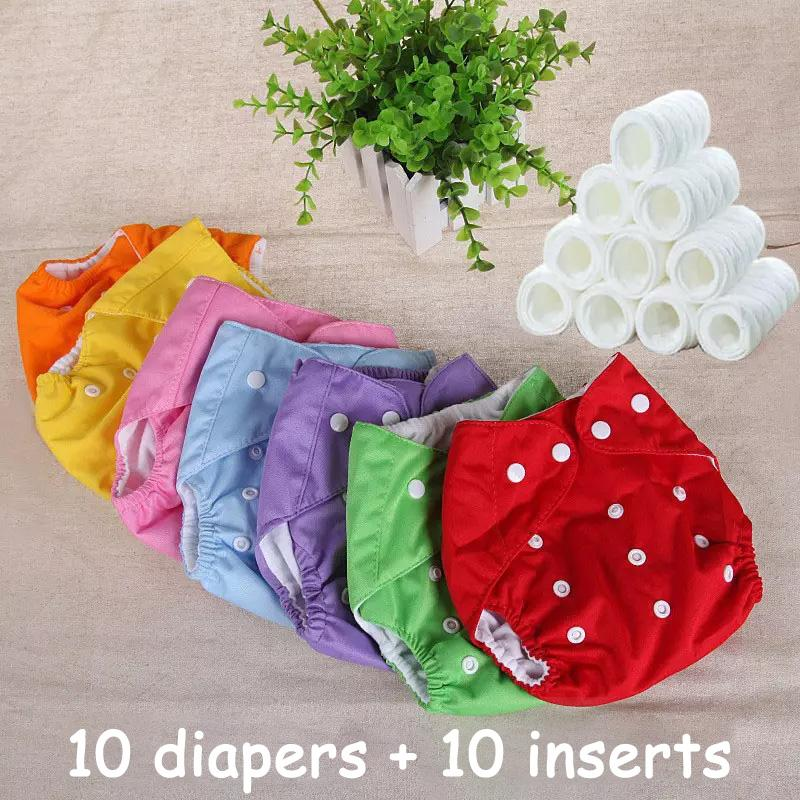 Baby Changing & Nappies 2x Reusable Bamboo Real Nappy Baby Washable Cloth Diaper With Boosters