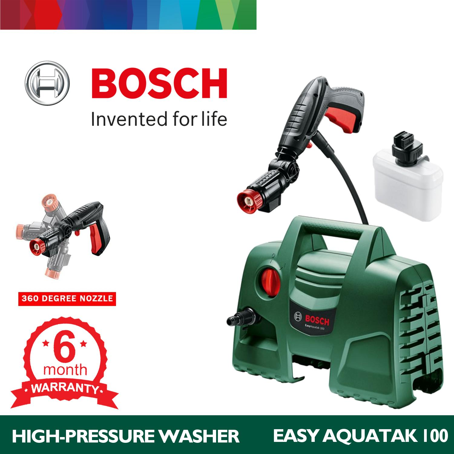 Bosch Easy Aquatak 100 Portable High Pressure Washer with 360 Degree Nozzle and Car Wash Set NEW MODEL 2018 Philippines