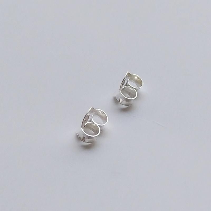 S925 Fine Silver Earplug Jewelry Earring su yin Thick Extra-large White Gold Plated Anti