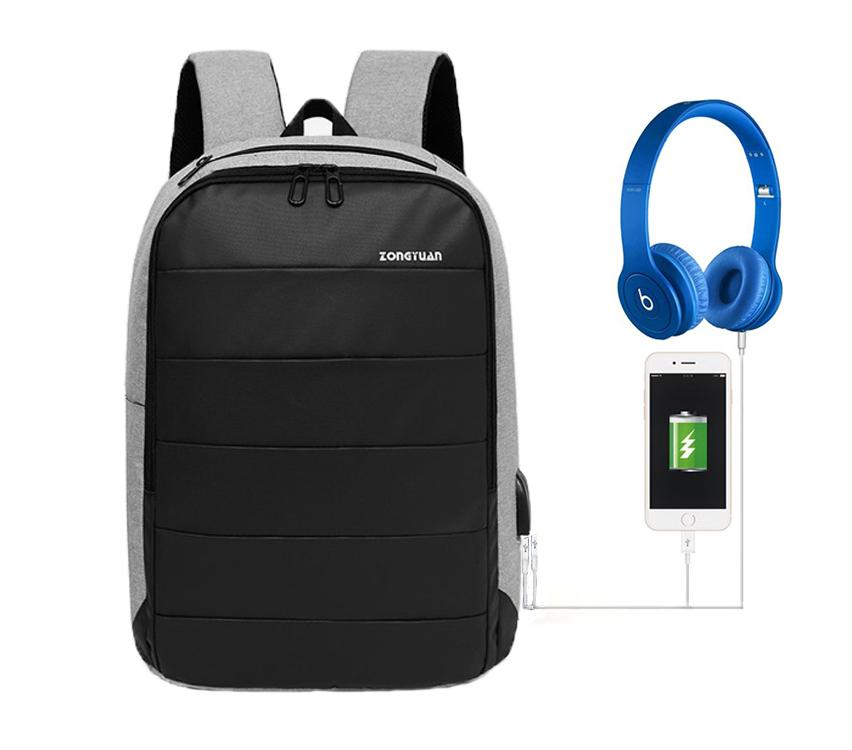 9f17a0f32 Abby Shi 1020 Backpack leisure fashion college style for students computer  with USB Charging & headphone
