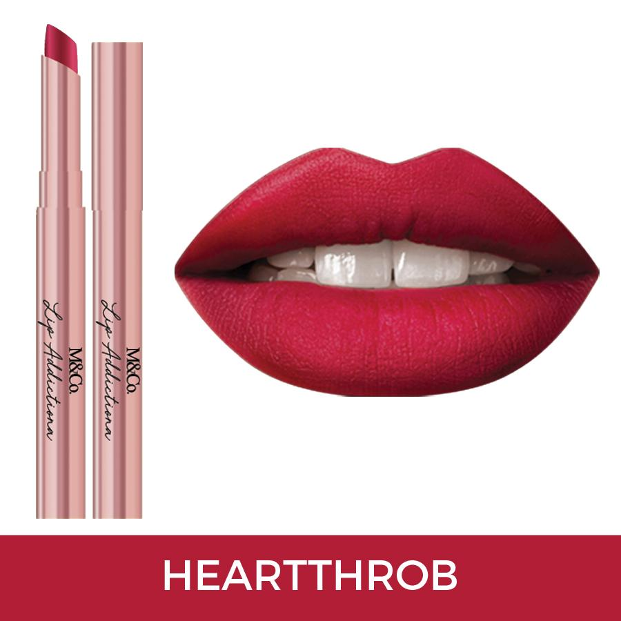 M&Co.Cosmetics LIP ADDICTION Creamy Matte Lipstick - Heartthrob Philippines
