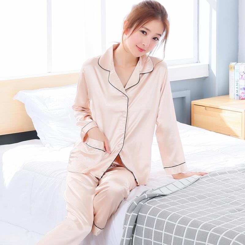 56d0c1b87b Korean viscose fibre nv zhang xiu cute pajama silk Women s sleepwear (Long-sleeved  502