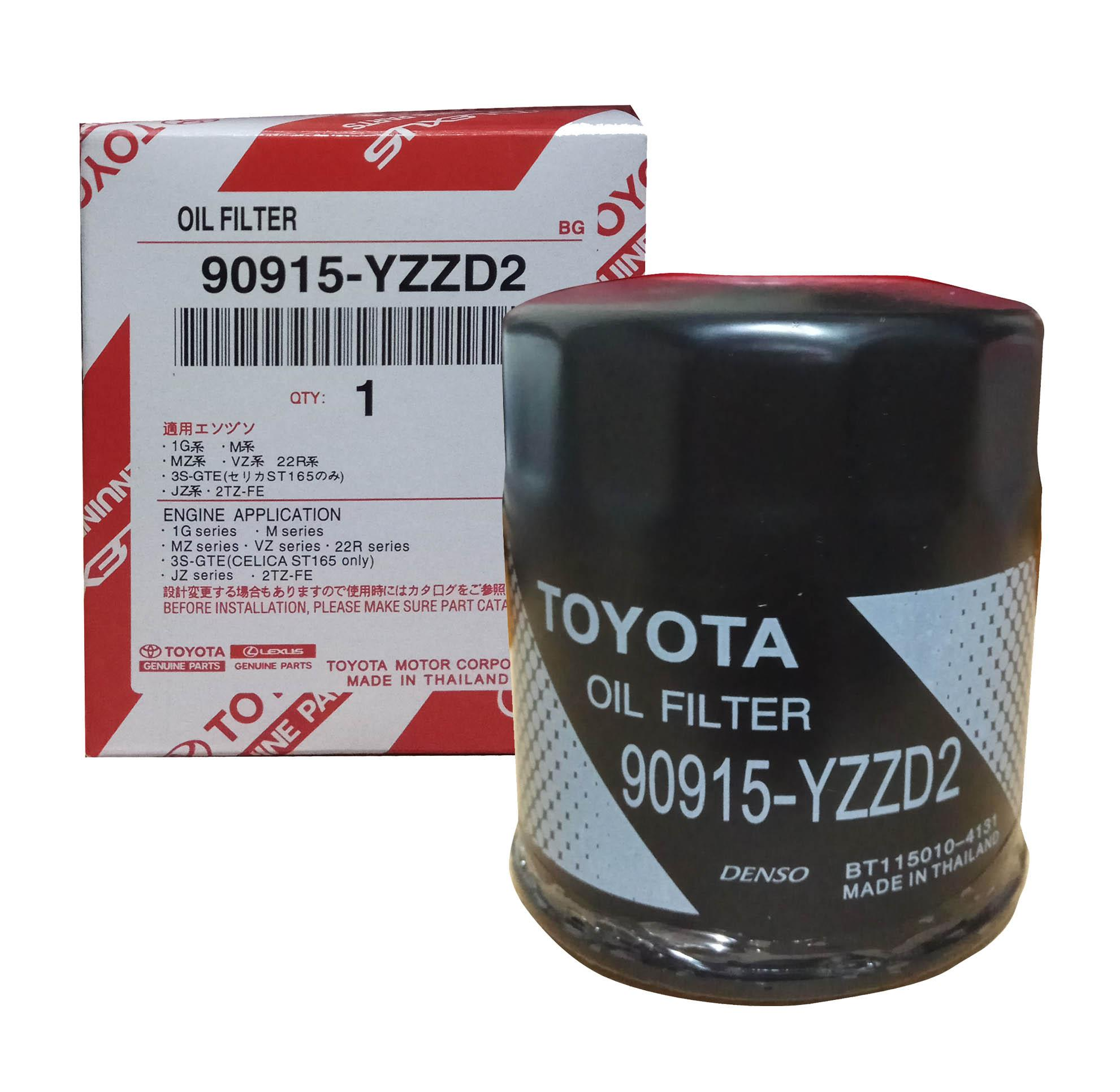 TOYOTA Genuine Parts Oil Filter 90915-YZZD2 for Toyota Fortuner / Innova /  Hi-