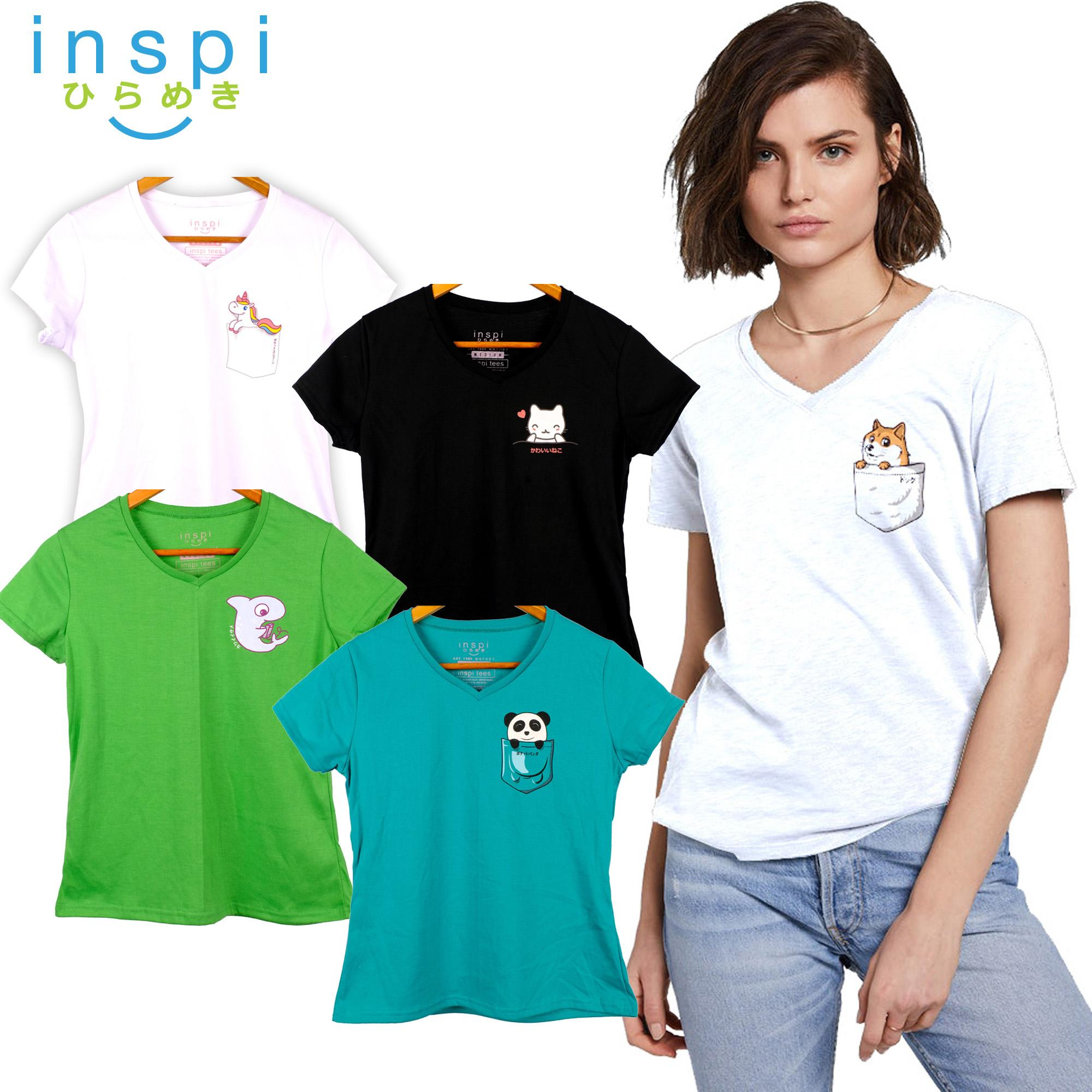 3e275b553d20 INSPI Tees Ladies Semi Fit Pocket Friends Collection tshirt printed graphic  tee t shirt shirts tshirts