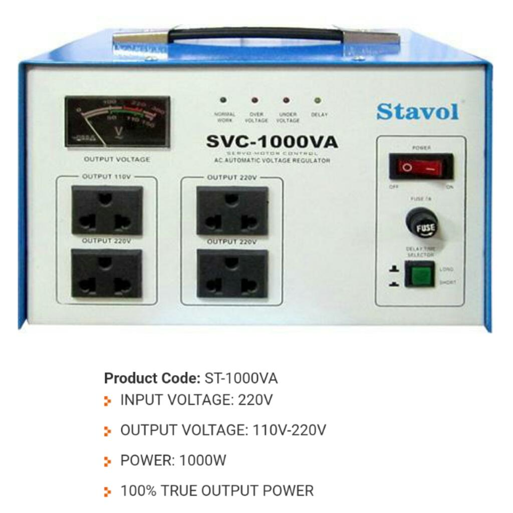 Stavol Philippines Price List Power Supply For Sale Lazada Voltage Regulator Four Powersupply Circuitsfixed Ac Svc 1000va Automatic Avr 100 True Output