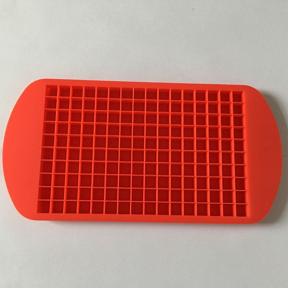 DSstyles 160 Grids Silicone Ice Cube Frozen Tray Ice Making Mold Home Kitchen DIY Tools Red