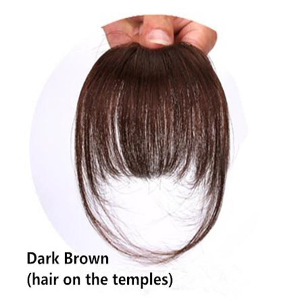O-New Hair Fringe Bang Hairpiece Full Bangs Hairpieces Clip in Top Hair  Extensions Wigs 0f2b1be79390