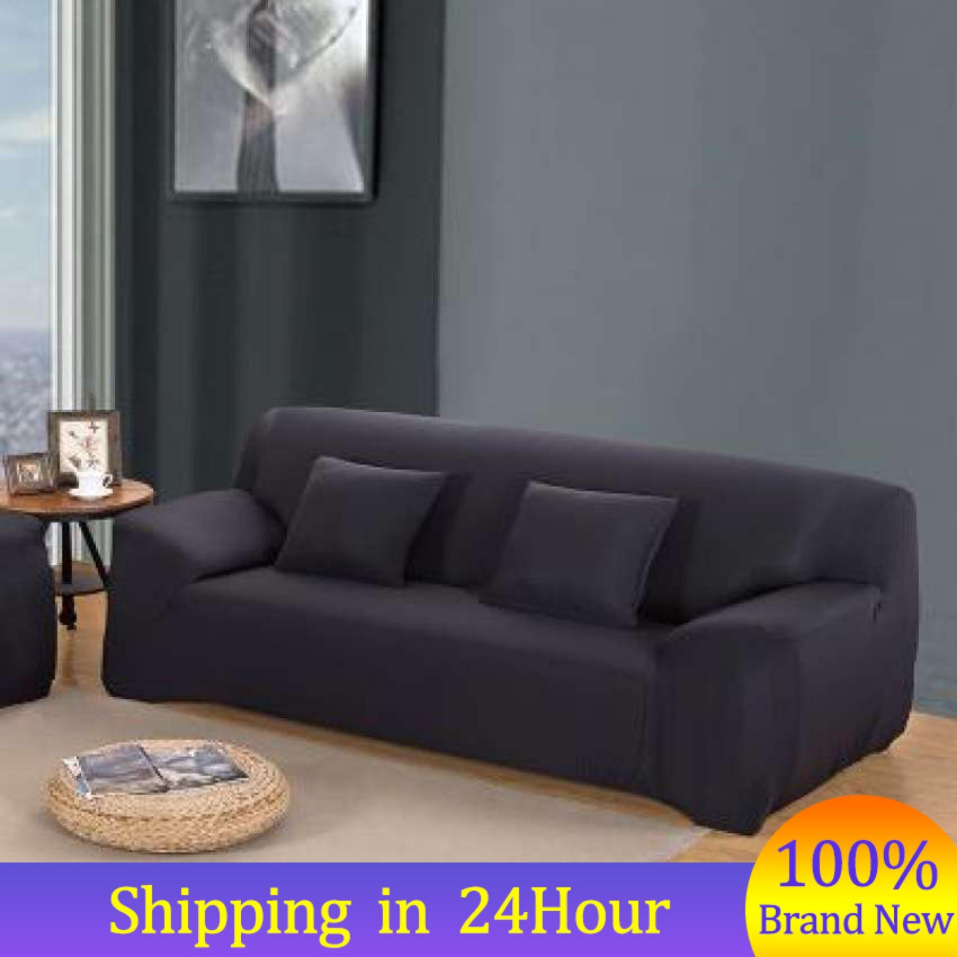 【original Price ₱1070】【send Gift】(2 Seater Cover)7 Colors Polyester Loveseat Sofa Couch Stretch High Quality Protect Cover Elastic Slipcover Home - Intl By Qilu.