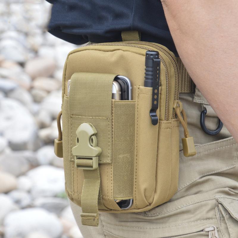 8b07d6ad5af Waterproof Belt Bag Men Nylon Mobile Phone Wallet Travel Sport Waist Pack
