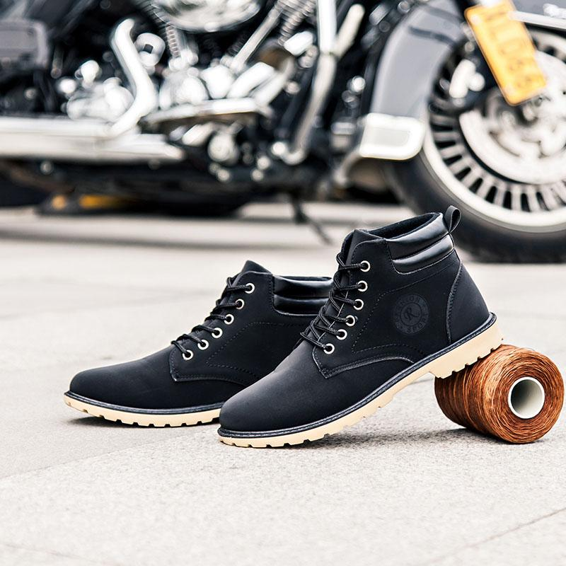 New Fashion Men Shoes Boots Sneakers High Top Casual Flats Shoes Male Hip-hop Mid Calf Boots Shoes Boys Buckle Shoes Pp-38 Men's Shoes