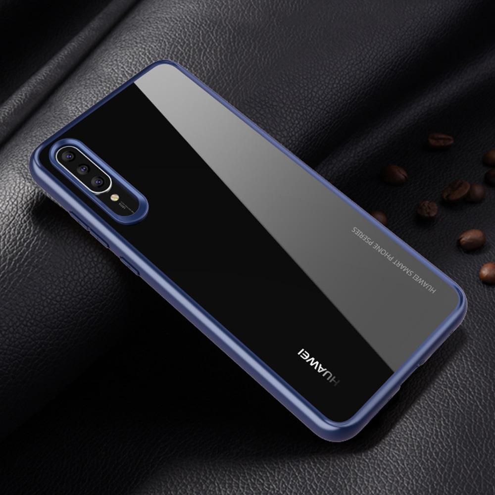 Huawei P20 Pro Case, RUILEAN Lightweight Anti-Scratch PC Clear Back + Shockproof TPU