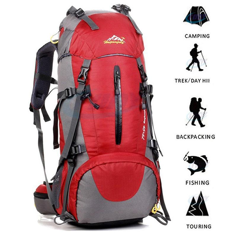 Larosso Hiking Backpack 50l Waterproof Backpack Outdoor Sport Daypack With A Rain Cover For Climbing Mountaineering Fishing Travel Cycling By Larosso Home.