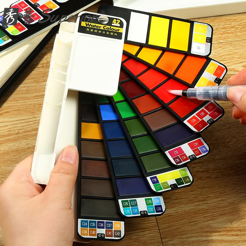 Superior Swivel Watercolor Set Of 42 Colors By Nomads Cart.
