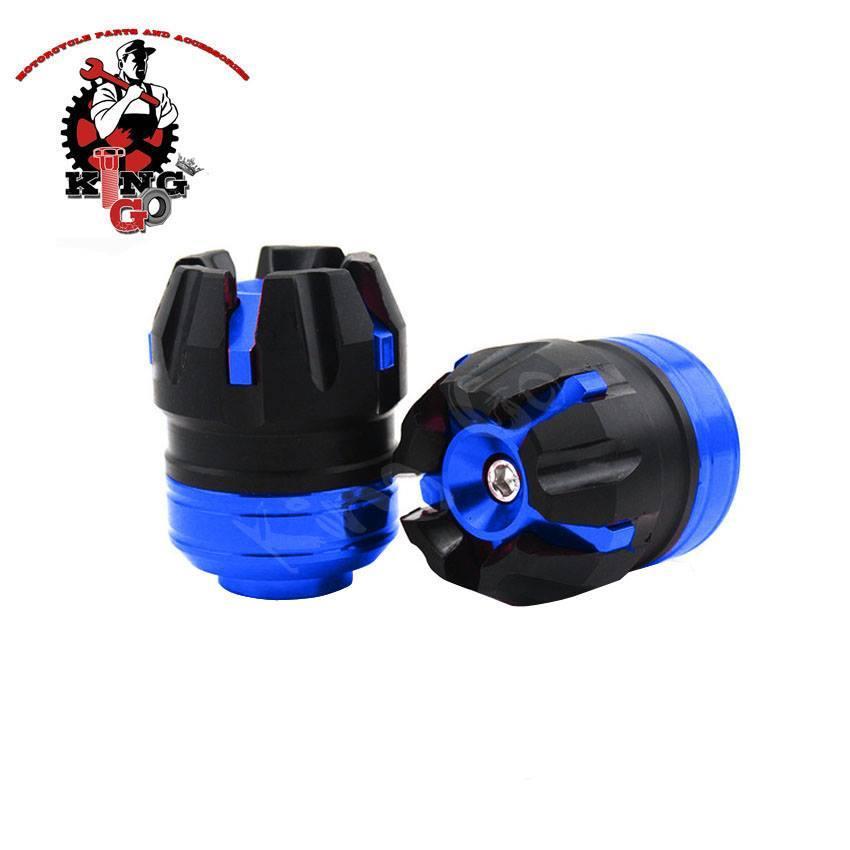 Aluminum Axle Cap for motorcycle BLUE