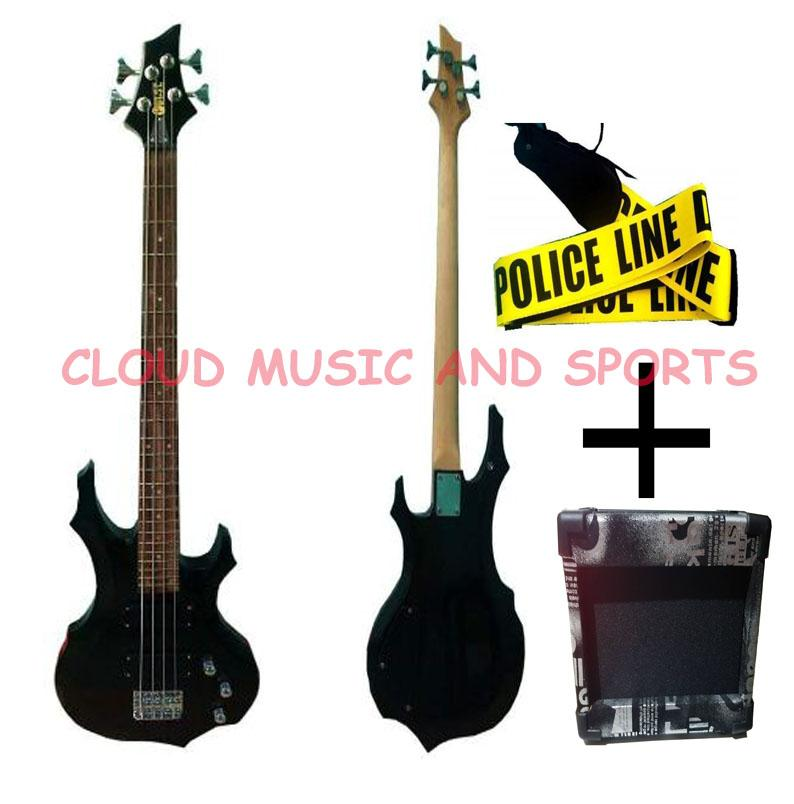 Pulse (by Global) B3 Bass Guitar 4 String (Black) with 5watts Global