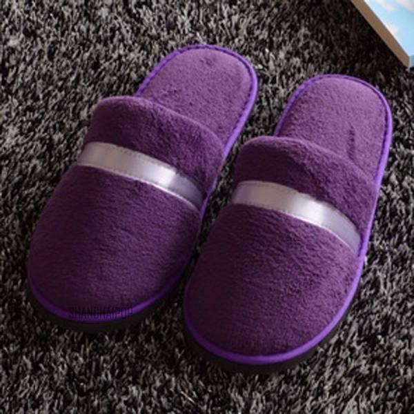 Unisex Women Men Soft Plush Slippers Home Warm Antiskid Indoor Sandal Flip Flops Free Size NEW