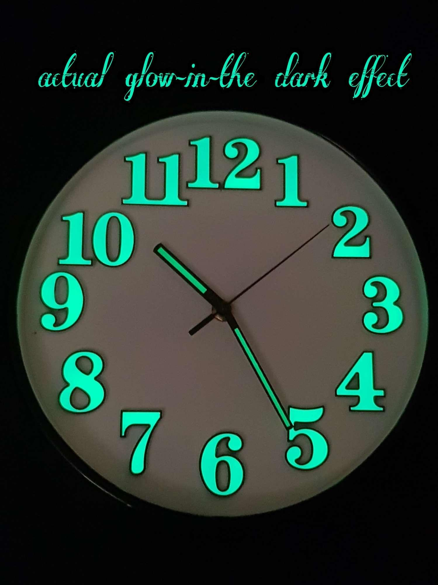 "10"" Modern Design Luminous Wall Clock"
