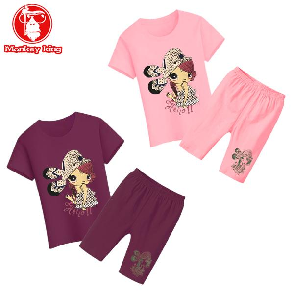 [Monkey King]Buy 1 Take 1 Terno Child Kids for Set Girls T shirts