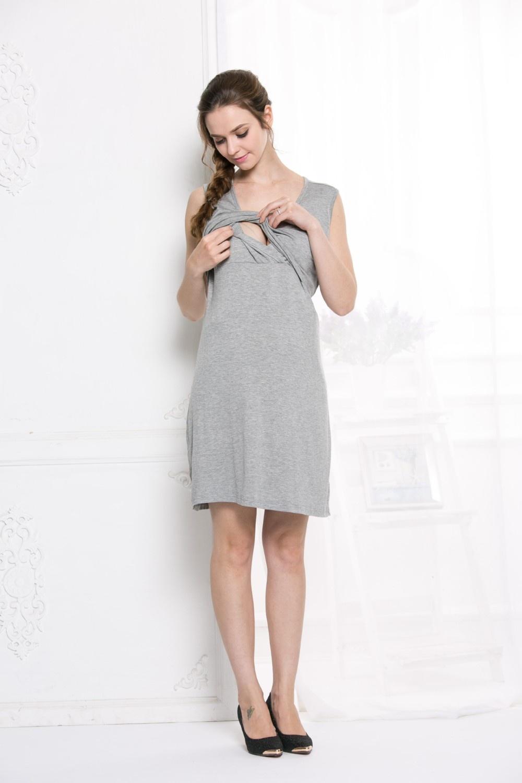 d68223354e7f1 Maternity Dress Breastfeeding Nursing Clothes Summer Dress Cross-way ...