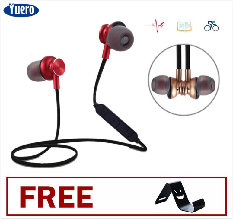 624e6561c092db Yuero Upgrade high quality Magnetism HD 1080P Stereo Wireless Sports  Headphones With Mic Bluetooth 4.1 Headsets