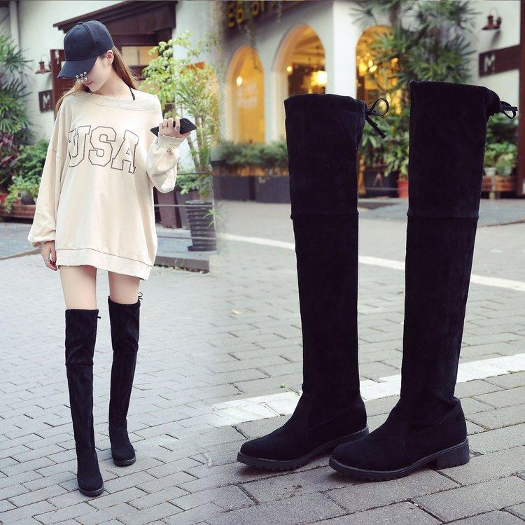 2018 Autumn   Winter New Style Pepper Block Heel Over-the-knee Boots women b71601174d