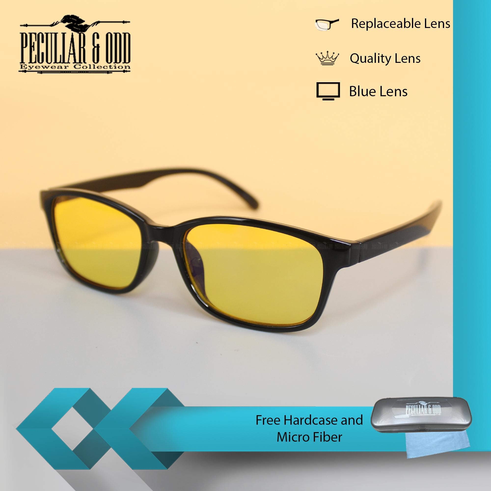 becb3b948e Peculiar Square 3028 BlackYellow Anti Radiation Computer Eyeglass Driving  Optical Replaceable Eyewear Unisex