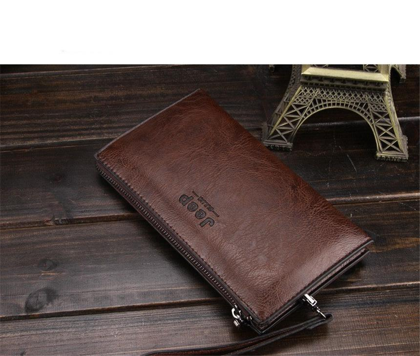 64d08bfe4e5c JEEP BULUO Famous Brand Good Leather Day Clutches For Men Fashion Single  Wallet Boss Men Bags