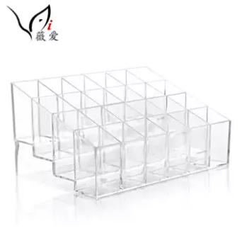 Clear Acrylic Cosmetic Makeup Storage Organizer Box Lipstick Stand Holder Display Rack Make up Brush Eyeshadow Nail Varnish Polish Case Container Philippines