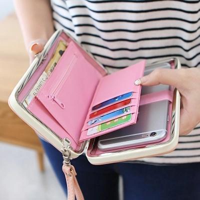 Women Fashion Bowknot Wallet Long Purse Phone Card Holder Clutch Storage  Organizer Large Capacity Tote Purse 96da7d8b444e2