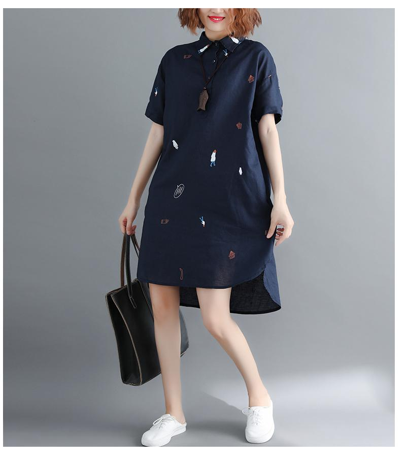 a13a27446cafb Large Size Plus-sized Womenswear Mm New Style Summer Literature And Art  Short Sleeve Printed