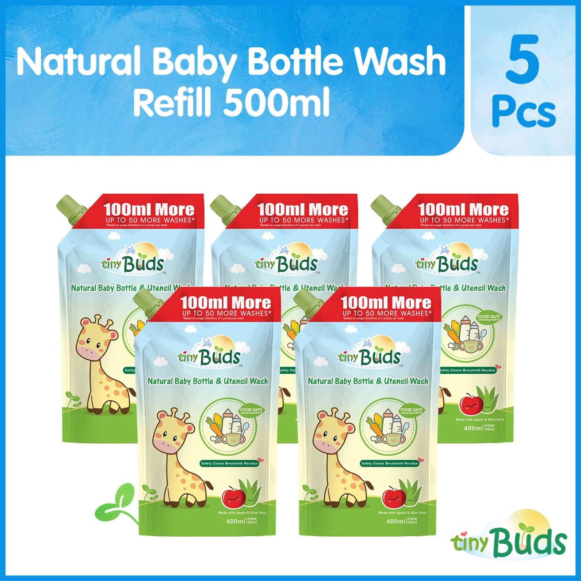 Tiny Buds Baby Bottle And Utensil Wash 500ml Set Of 5 By Tiny Buds Baby Naturals.