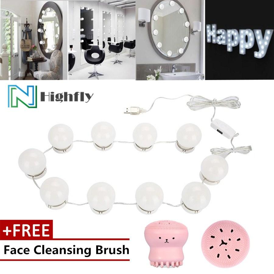 Free Gift Led Bulb Mirror Light Vanity Lamp Kit Lens Headlight Bulbs
