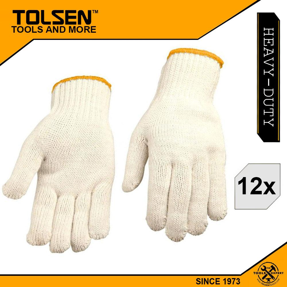 Tolsen (12pairs)  Knitted Working Gloves 10(XL) Cotton And Polyester 45001 Philippines