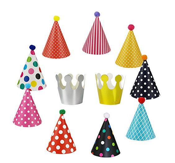 11pcs/set Colorful Mini Birthday Party Hat Diy Paper Hats For Photograph Birthday Party Favors 80g By Phsupermall.