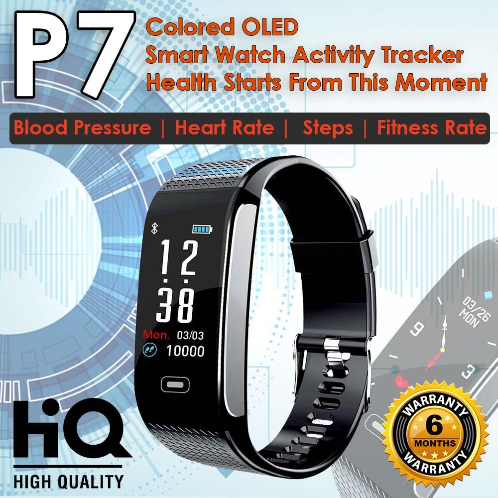 P7 Elegant Colorful OLED SMART WATCH IP67 Water Proof Fitness Activity  Tracker / Smart Bracelet 0 96