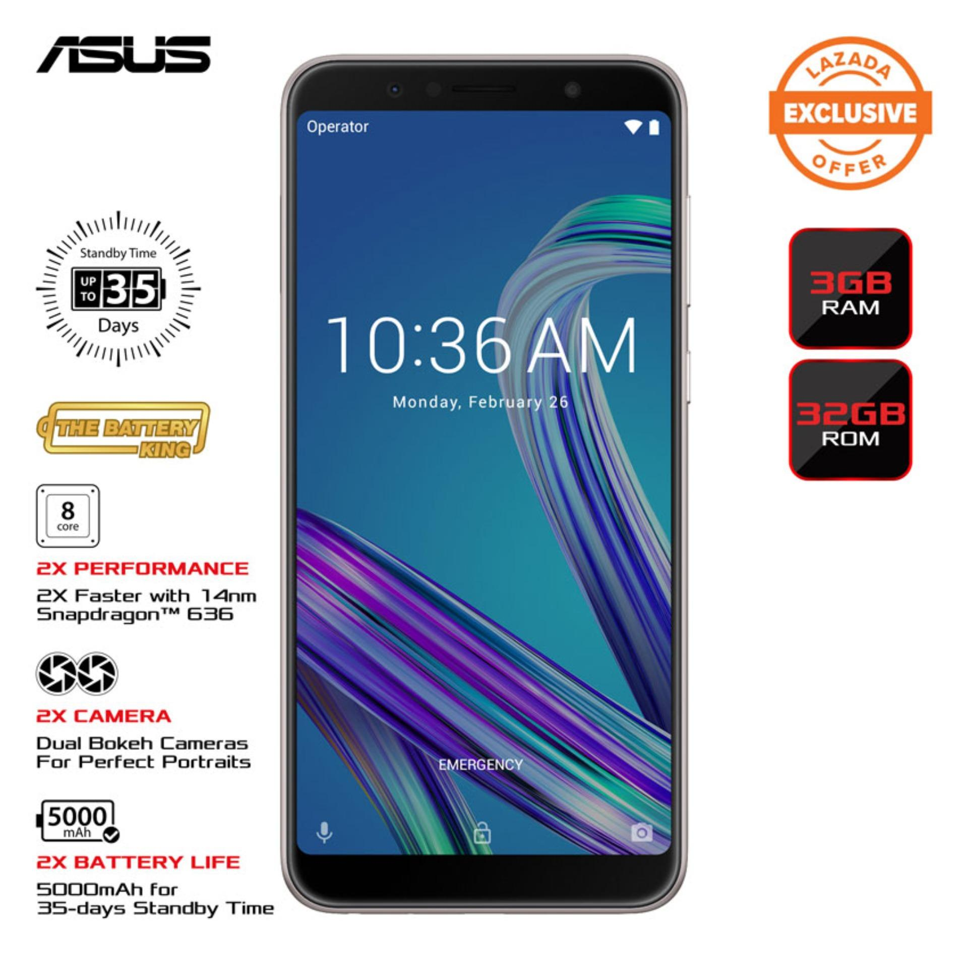 [EXCLUSIVE] Asus Zenfone Max Pro M1 (3GB + 32GB) – Black with Free Max Pro  Clear Case worth 699