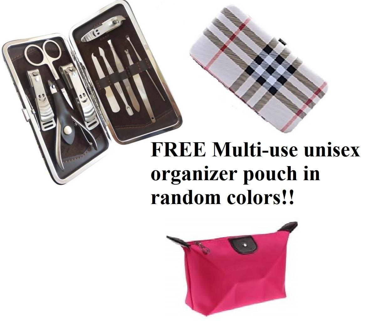LILIs - 1 x 10 in 1 Manicure and Pedicure set stainless!! FREE Multi-use unisex organizer pouch in random colors!! Philippines