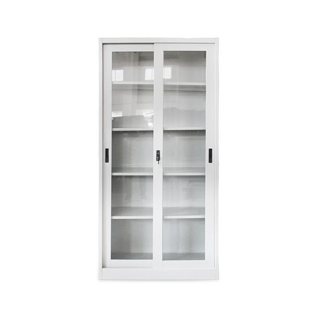 Steel Cabinet Rffc01 Sliding Glass By Curated Office Furnitures.