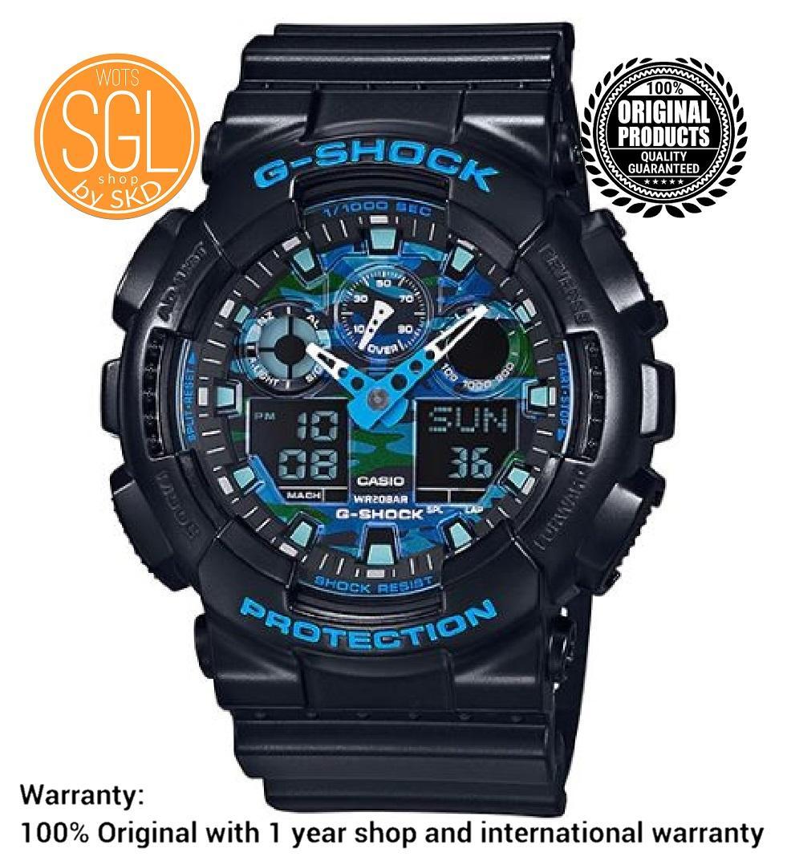 6c1e4e43537d Casio G Shock Cool Blue Series Plastic Strap Watch GA100CB-1 SGL WOTS SHOP