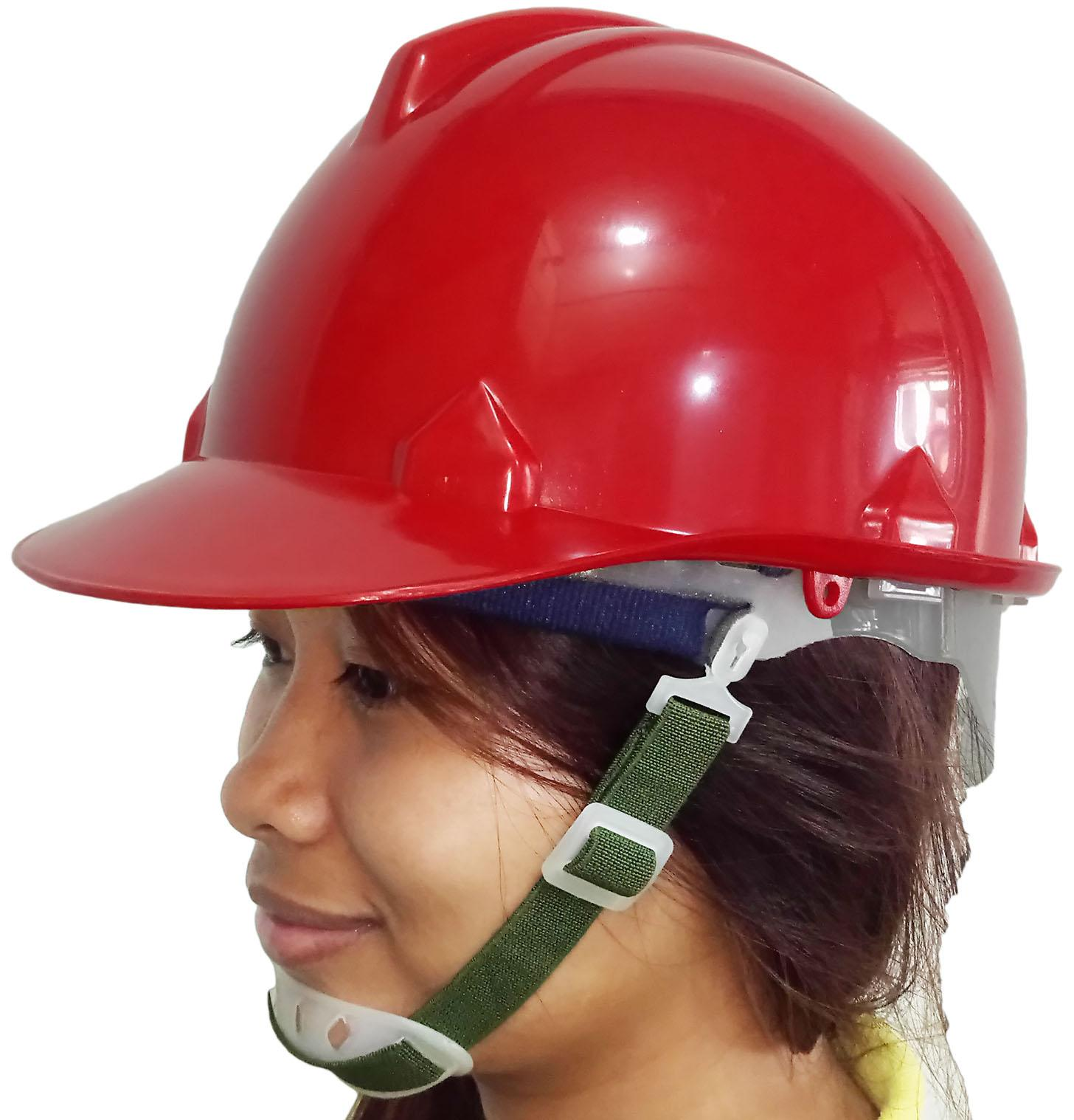 Meisons hard hat safety helmet RED PE with normal liner and chin strap Philippines