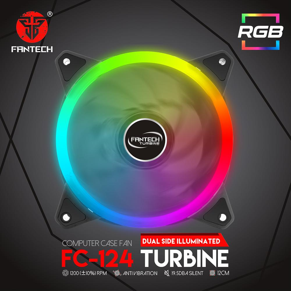 Fantech Gaming Pc Fan Turbine Fc124 Automatic Changing Rgb Lights By Acegadgetstoreph.