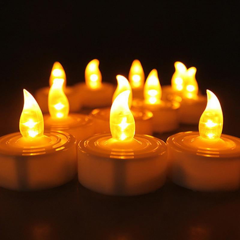 Electronic Led Candle Light Smokeless Flameless Candle For Wedding Birthday Decor 12pcs By Blong001.