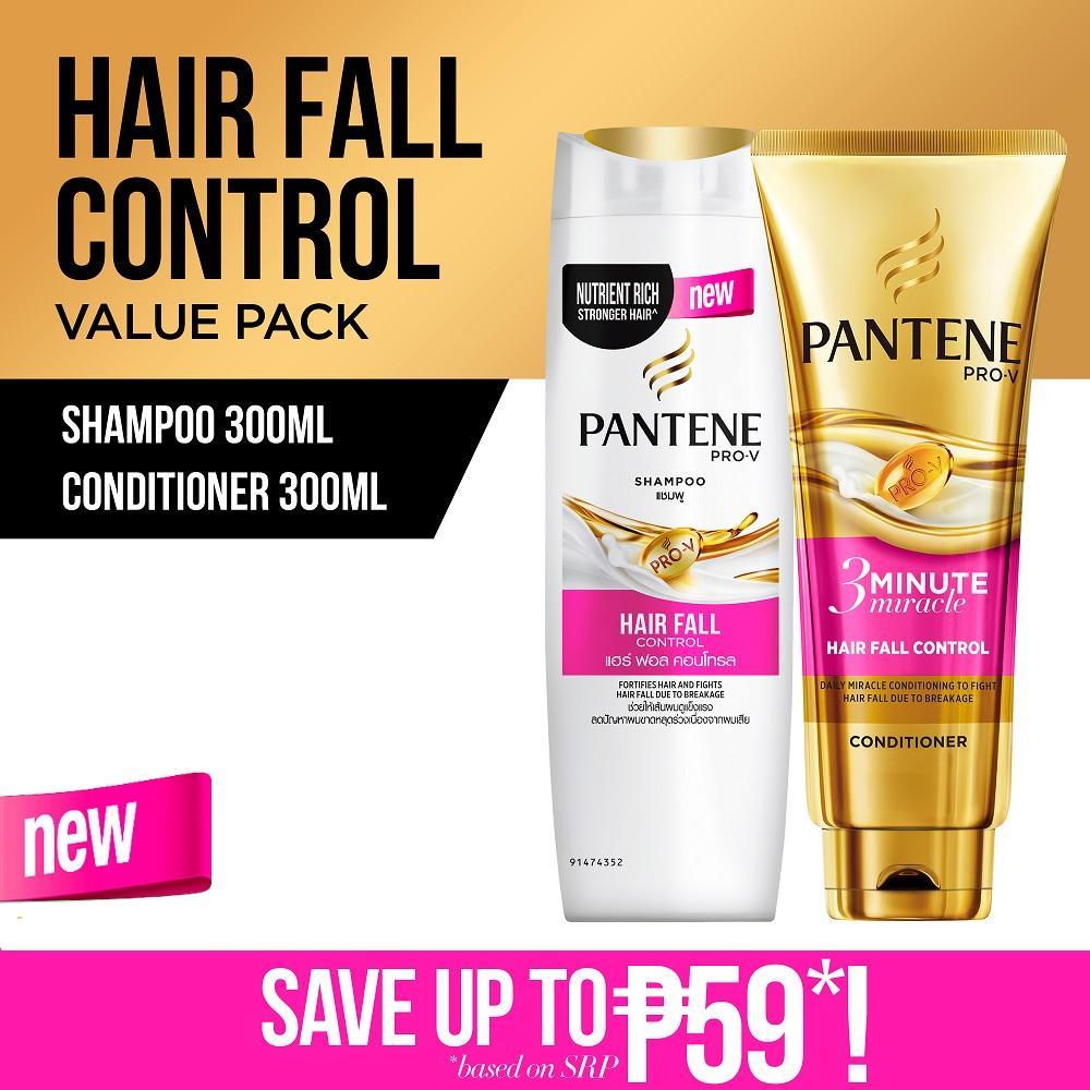 Pantene Philippines Price List Shampoo Hair Conditioner Sampo Hairfall Control 750ml Fall 300ml Value Pack