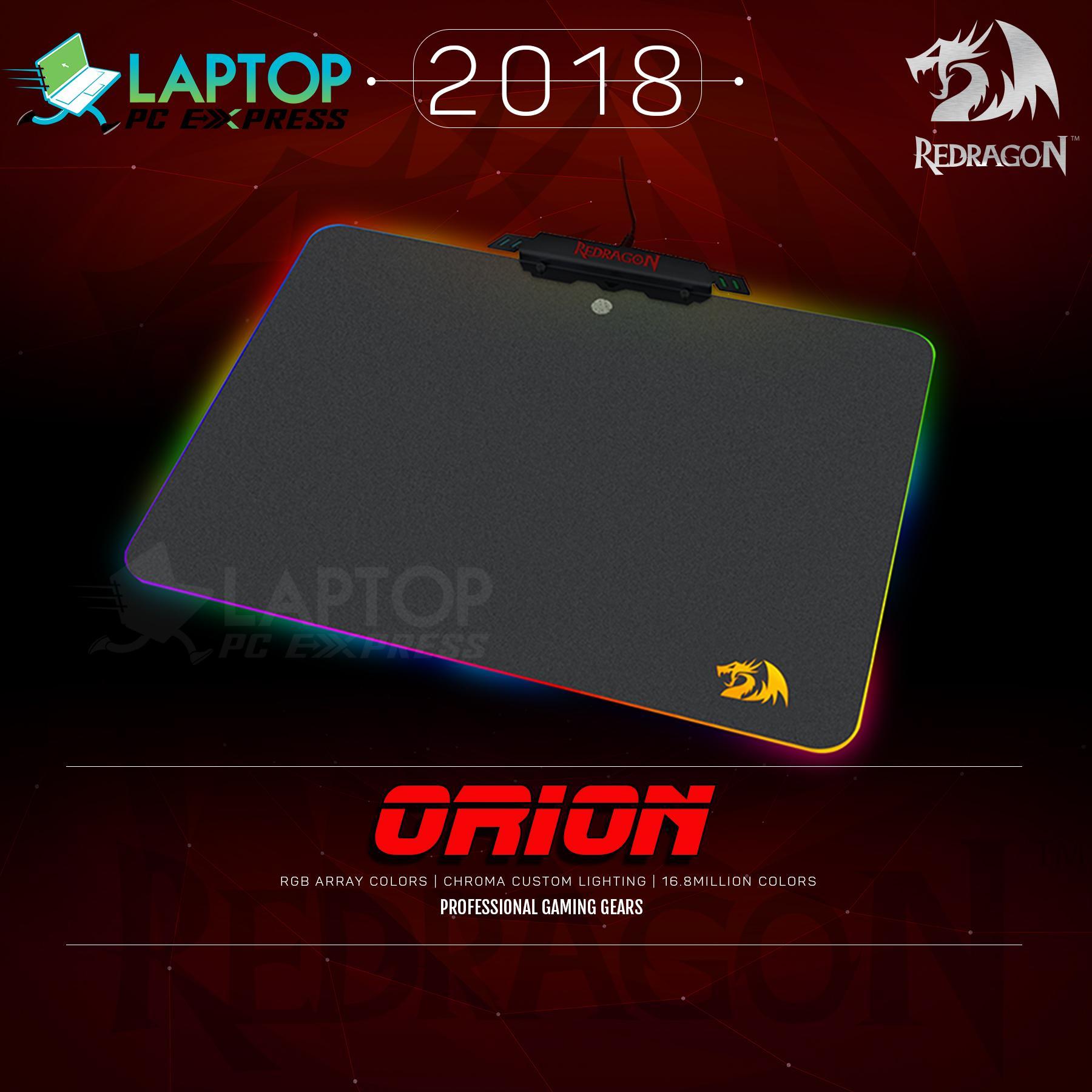 RGB Chroma Custom Lighting Gaming Mouse Pad Redragon Orion