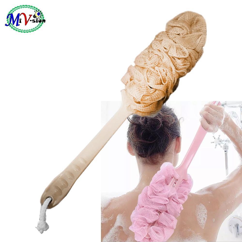 Bath Shower Body Back Brush Spa Scrubber Peach By Mi Vision.