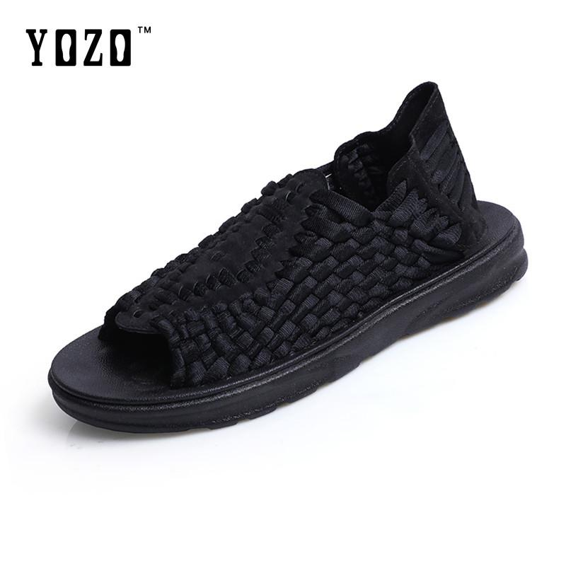 84c4c6c82b7ef YOZO Men S Shoes Men S Casual Shoes Knitted Shoes High Quality Comfortable  Rubber Men S Summer Primer Sandals